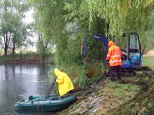 Startschuss zum Arbeitseinsatz am Mötzlicher Teich