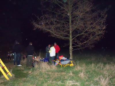 Osterfeuer in Mötzlich 2016 am Löschteich